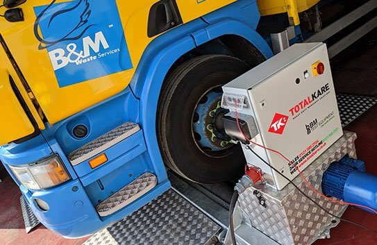 B&M Waste Services installed a Totalkare mobile brake tester