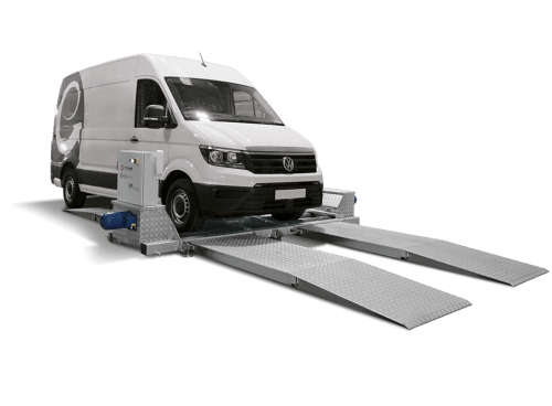Mobile brake tester with extended on-ramps from Totalkare