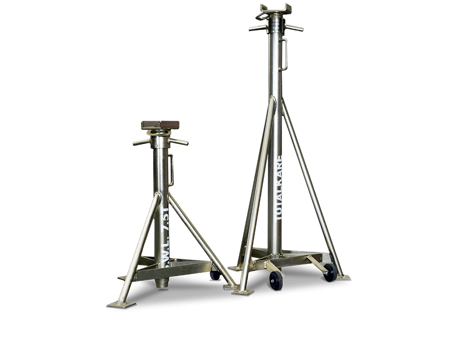 Short and tall support stands from Totalkare