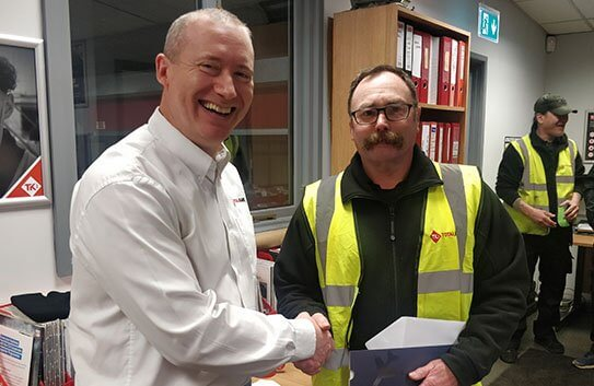 Tony Boyce celebrates 20 years' service with Totalkare