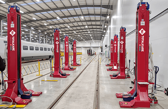 Hitachi Rail invests in railway lifting jacks from Totalkare